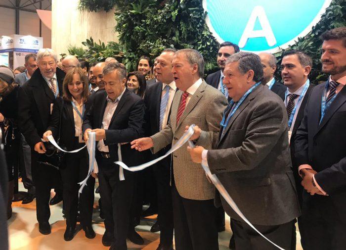 Feria de Turismo: Cornejo inauguró el stand de Argentina en Madrid