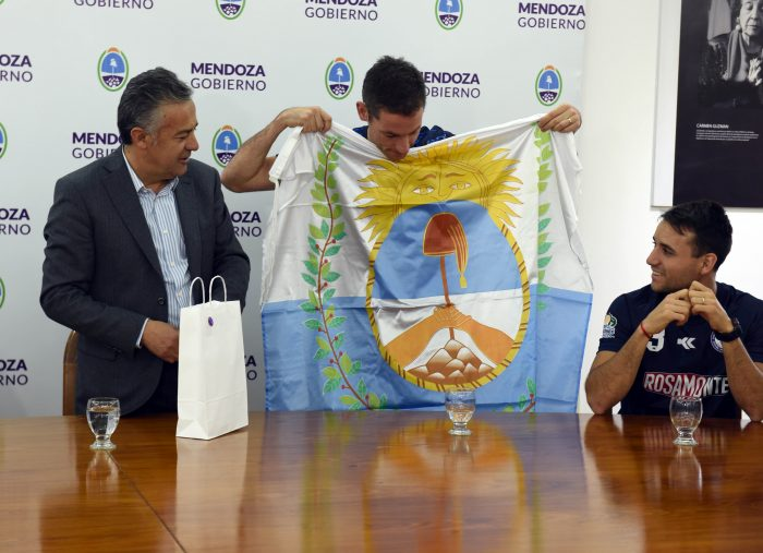 Cornejo recibió a los mendocinos campeones del mundo de Futsal