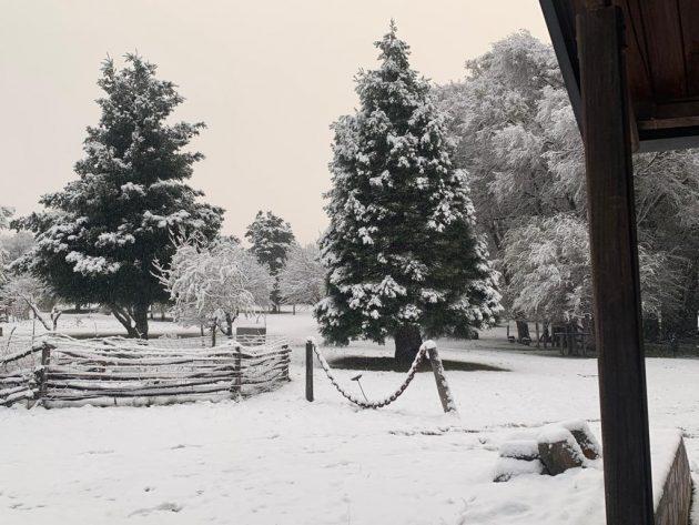 La nieve «pintó» a varios departamentos de San Luis