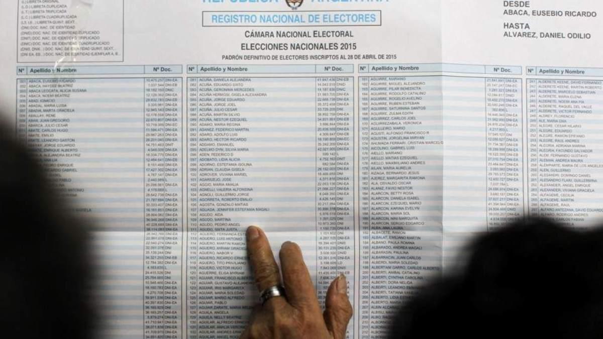 Insólito: publicaron el padrón electoral y no aparece San Juan