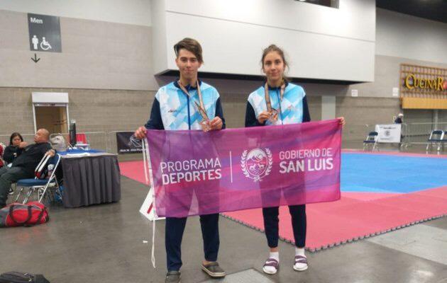 Bronce para dos puntanos en el Panamericano de Taekwondo