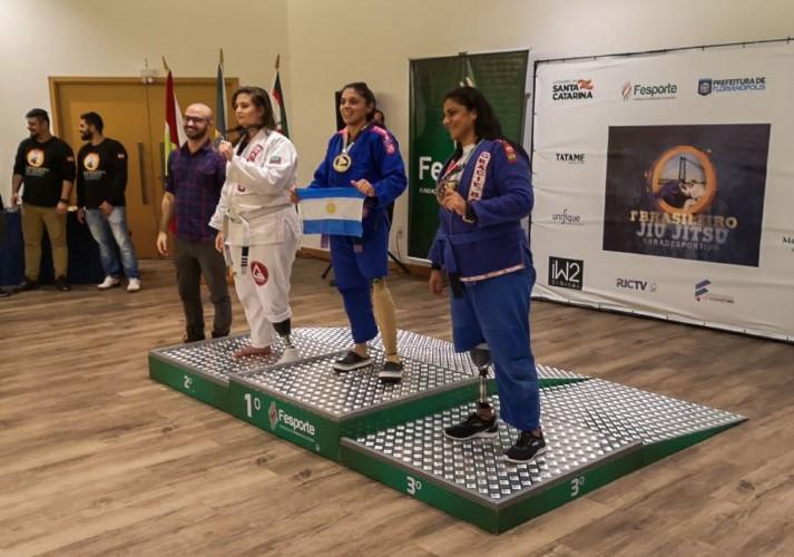 Para Jiu-Jitsu: Estefanía González ganó la medalla de oro en Brasil