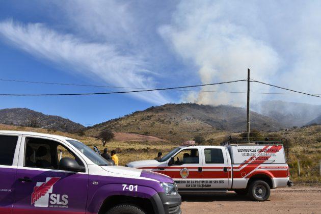 Controlaron el incendio forestal en San Luis