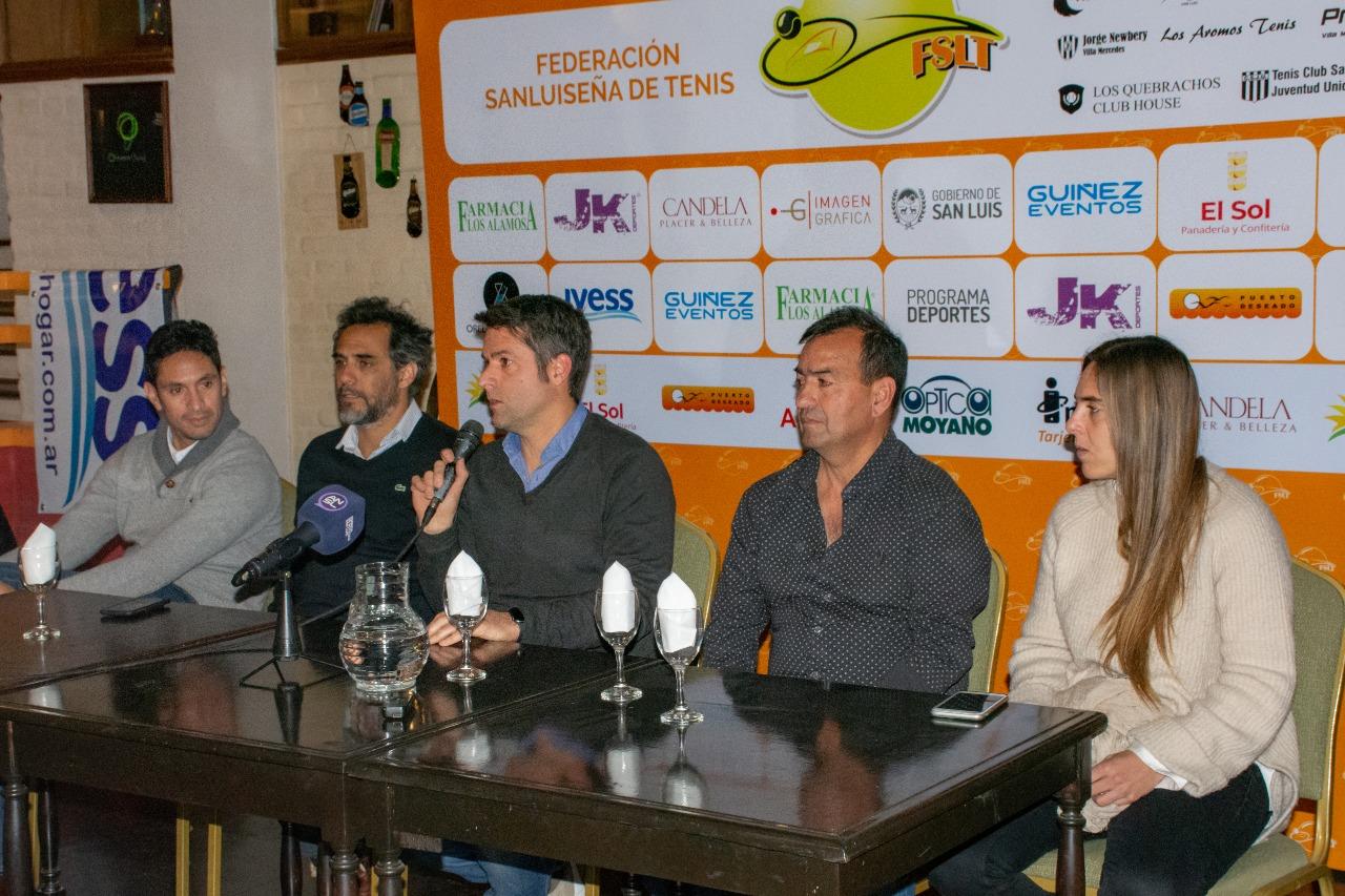 """Calleri en San Luis: """"Queremos un cambio en el tenis argentino"""""""