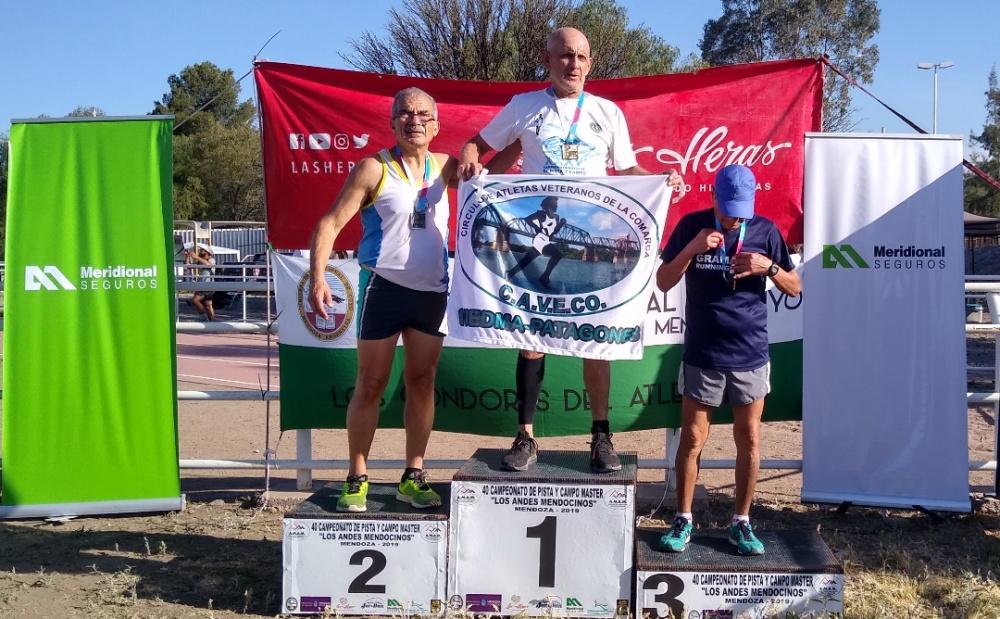 Varas y Chia alcanzaron el oro en el master de atletismo